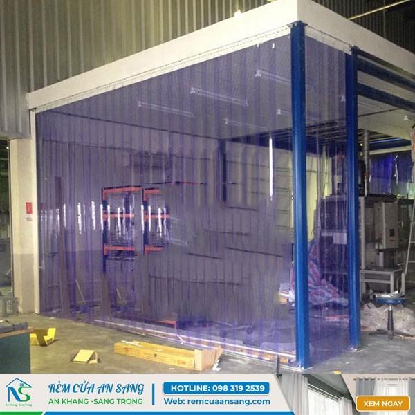 Thi công Rèm nhựa chắn điều hòa cho xưởng SX